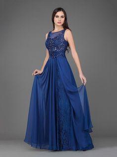 blaues Abendkleid crusz