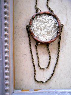 Baby's Breath Draped Chain Necklace. $50.00, via Etsy.