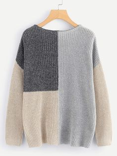 To find out about the Plus Drop Shoulder Color Block Sweater at SHEIN, part of our latest Plus Size Sweaters ready to shop online today! Plus Size Pullover, Pullover Design, Plus Size Sweaters, Women's Sweaters, Striped Sweaters, Oversized Sweaters, Ribbed Sweater, Winter Sweaters, Vintage Sweaters
