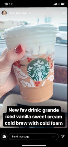 Iced coffee Starbucks order Nicole Huntsman - Best Cup of Joe - - Drink Recipes - Kaffee Starbucks Hacks, Healthy Starbucks Drinks, Starbucks Secret Menu Drinks, Starbucks Iced Coffee, Coffee Drinks, Yummy Drinks, My Coffee, Starbucks Food, Espresso Coffee