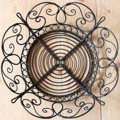 Wire Crafts, Diy And Crafts, Wire Art, Scandinavian, Weaving, Miniatures, Basket, Iron, Rustic