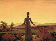Caspar David Friedrich Woman before the Rising Sun oil painting for sale; Select your favorite Caspar David Friedrich Woman before the Rising Sun painting on canvas or frame at discount price. William Turner, Morning Sun, Morning Light, Caspar David Friedrich Paintings, Casper David, Franz Marc, Jean Paul Sartre, Winslow Homer, Expositions