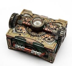 Steampunk Box with Compass - 8508