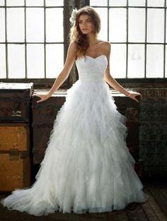 Ethereal dotted tulle David's Bridal PK3357 - Used Wedding Dress   SmartBrideBoutique.com