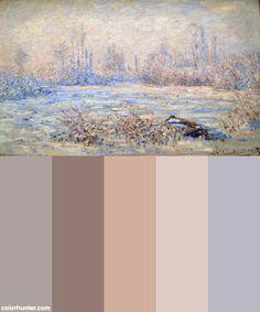 Monet_frost_near_vetheuil_1880 Color Scheme