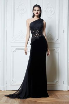 Zuhair Murad 2013 new fashion long evening dresses, one shoulder mermaid