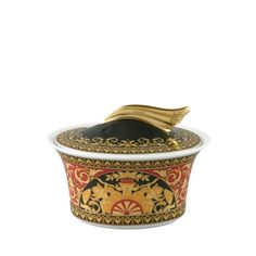 ad4b6a2b09c The Home Collection - Versace Rosenthal Dinnerware   Red Medusa Sugar Bowl