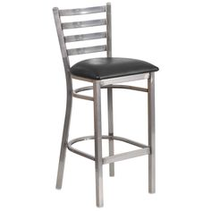 Flash Furniture Mahogany Wood Seat/Clear Coated Metal Frame Bar Stool at Lowe's. The Clear Coated Ladder Back Metal Restaurant Barstool will be an attractive addition to your restaurant, pool hall or your bar at home. The barstool has Dining Stools, Metal Bar Stools, Bar Chairs, Counter Stools, Side Chairs, Island Chairs, Lounge Chairs, Lancaster, Metal Wood
