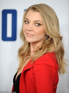 Picture perfect: The British actress, who stars in Game Of Thrones, wore her blonde hair d...