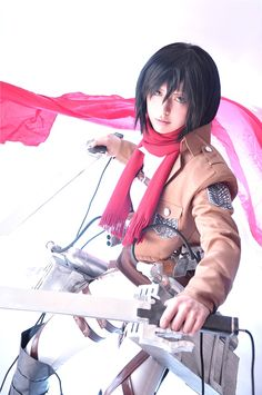 Anime: Shingeki no Kyojin (Attack on Titan) Character: Mikasa Ackerman