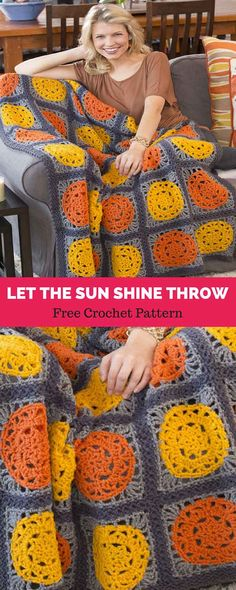 #freecrochetpattern #freecrochet #crochet3 #easycrochet #patterncrochet #crochettricks #crochetitems #crocheton #thingstocrochet Granny Square Crochet Pattern, Afghan Crochet Patterns, Crochet Squares, Granny Squares, Crochet Crafts, Free Crochet, Knit Crochet, Crochet Afgans, Crochet Blankets