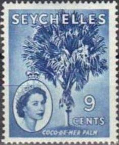 Sello: Coco-de-Mer (Seychelles) (Queen Elizabeth II) Mi:SC 173,Sn:SC 175