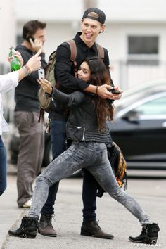 Pin for Later: 66 Celebrity Selfies That Don't Even Need a Filter  In December 2013, Vanessa Hudgens got silly while taking a selfie with boyfriend Austin Butler in Venice Beach, CA.