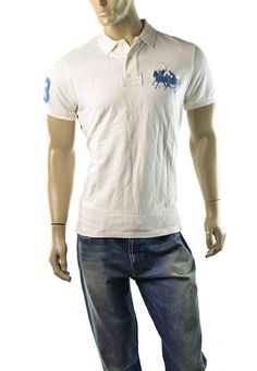 POLO Ralph Lauren Polo Shirt Mens Big Pony Match Custom Fit Shirts Size L NEW #RalphLauren #PoloRugby
