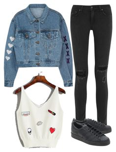 """""""Untitled #12024"""" by beatrizibelo ❤ liked on Polyvore featuring rag & bone and adidas Originals"""