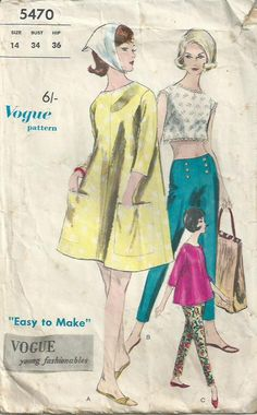 One Piece Dress and Blouse Vogue Pattern 5470 by LouisaAmeliaJane, $6.00