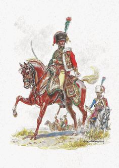 French Officier Chasseurs a cheval of the Imperial Guard