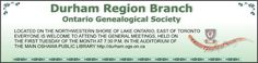Durham Region Branch Ontario Genealogical Society blog Durham Region, Genealogy, Ontario, Blog, Family Tree Diagram, Family History