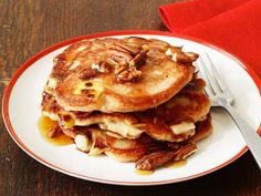 Food Network Magazine's apple-infused pancakes are the perfect healthy weekend breakfast!