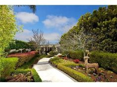 Beautiful walkway with garden landscape
