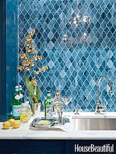 stunning tile - Ashley Whittaker design; Waterworks Aladdin tile; photo by James Merrell