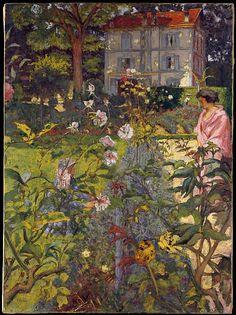'Garden at Vaucresson' (1920) by Édouard Vuillard
