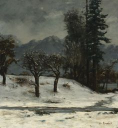 Gustave Courbet - Neige  Oil on canvas (88 x 81 cm)