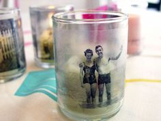 For a bit of candlelit nostalgia, make copies of old photos and create memory candles.