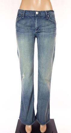 ROCK & REPUBLIC New Jeans Size 31 M Crystals Roth Vapor Blue Denim NWT $325 #RockRepublic #BootCut