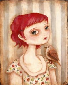 """""""She moves among the sparrows"""" by theblackapple on Etsy"""