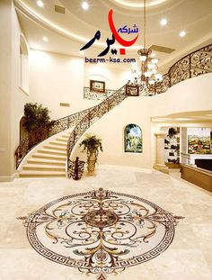 Marble Inlay Flooring Services - Marble Inlay Flooring Service In Lobby Manufacturer from Agra Classic Interior, Luxury Interior Design, Interior Decorating, Floor Design, Ceiling Design, House Design, Design Living, Boho Home, Marble Floor