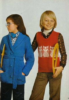 DIY vintage, couture, tricot, patron 70's,art and craft: Tricot vintage 4-14 ans