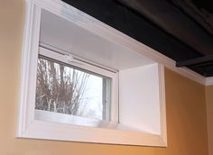 Basement window + trim