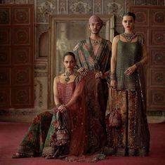 2019 Sabyasachi Charbagh Bridal Lehenga Collection - Frugal2Fab Sabyasachi Collection, Bridal Lehenga Collection, Indian Bridesmaid Dresses, Bridal Lehenga Choli, Wedding Lehnga, Red Wedding, Simple Kurti Designs, Neckline Designs, Blouse Designs