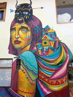 Cusco, Peru - Street Art & Graffiti- The Street Art in Cusco Peru is very much flavored by the local culture. These finds are from inside the walls of the Supertramp Hostel, up the hill. Truly one of my favorite places in the world. Original photography from R. Stowe.