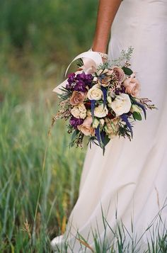 #Bouquet | See the wedding on SMP -- http://www.StyleMePretty.com/destination-weddings/2014/01/21/rustic-park-city-wedding-at-canyons-resort/ Chudleigh Weddings