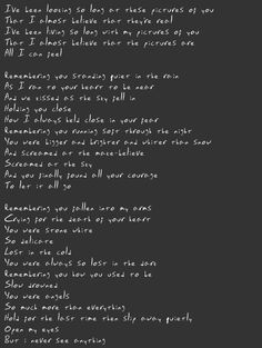 The Cure - birdmad girl - lyrics index - pictures of you
