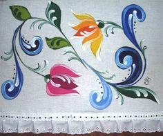 Pintura em Tecido Passo a Passo Com Fotos: Bauernmalerei no Tecido
