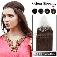 16 Inch 50s Micro Loop Ring Grade AAA Remy Hair Extensions (#4 Chocolate Brown)