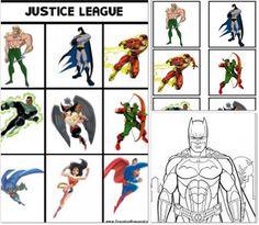 justice league memory - free printable
