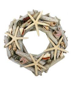 Look what I found on #zulily! Starfish Driftwood Wreath #zulilyfinds