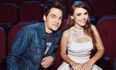 Holland Roden and Dylan Sprayberry attend the 2014 MTV Video Music Awards.