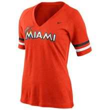 Miami Marlins Women's Half Sleeve Away Fan T-Shirt by Nike  Bought Item: 13173274 one today this morning.
