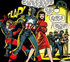 CAPTAIN AMERICA COMICS #65 (Jan. 1948)   Art by Syd Shores     With a script by Bill Woolfolk