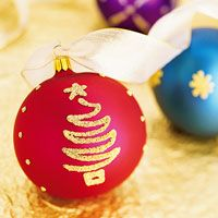 Dazzling Beads Christmas Ornament - Create a design on your homemade Christmas ornament using glitter or breads and some glue.