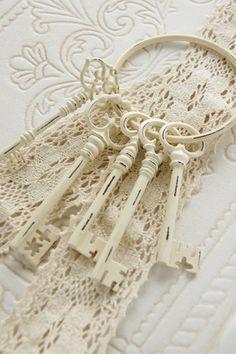 skeleton keys #shabby chic decor