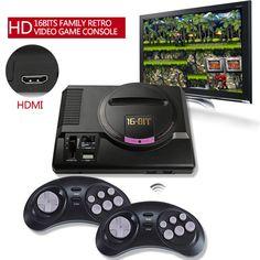 HDMI OUT TV Video Game Console Retro HD 16 bit Player for Sega Games US Plug #UnbrandedGeneric
