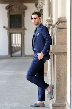 Blogger Filippo Fiora wearing the Gucci 1953 Horsebit Loafer