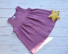 Girls Muslin Sleeveless Dress Cotton Blueberry by LillyRose2008 on Etsy