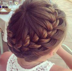 Starburst crown braid from lovepeacepionies #pretty #braided #hairstyle